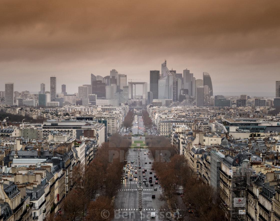 """Avenue de la Grande-Armée, Paris"" stock image"