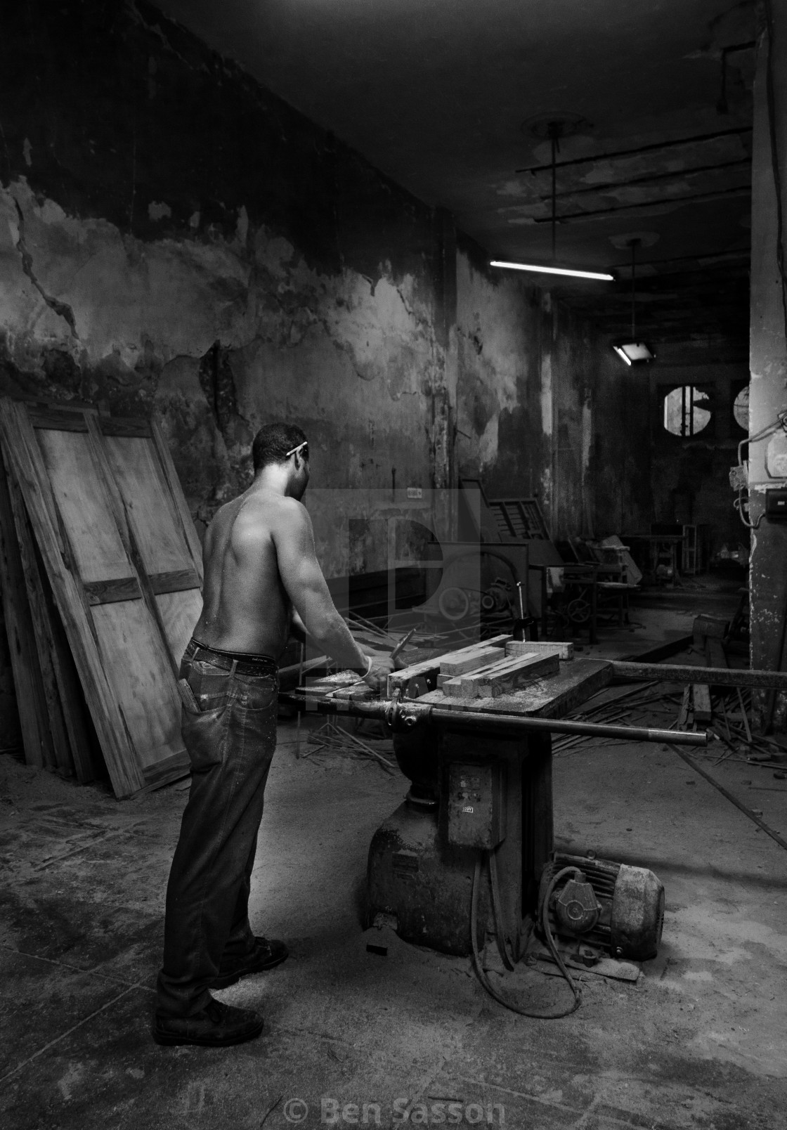"""Workshop, Cuba"" stock image"