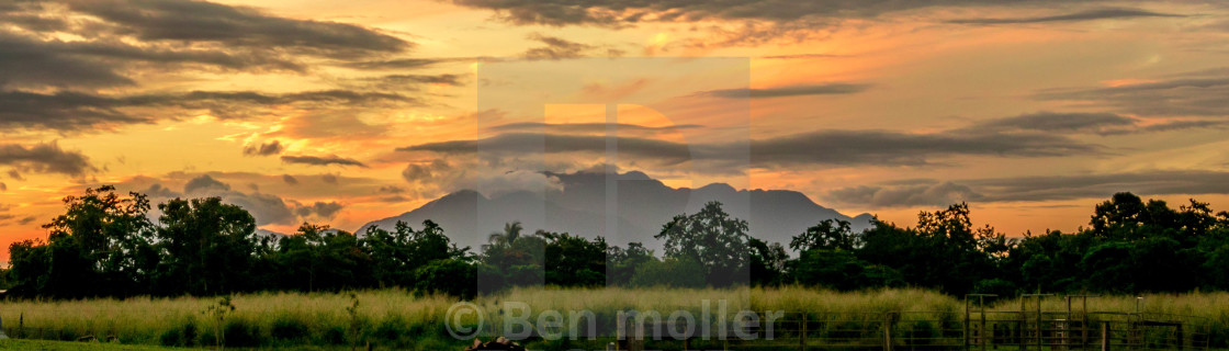 """""""tropical sunset"""" stock image"""