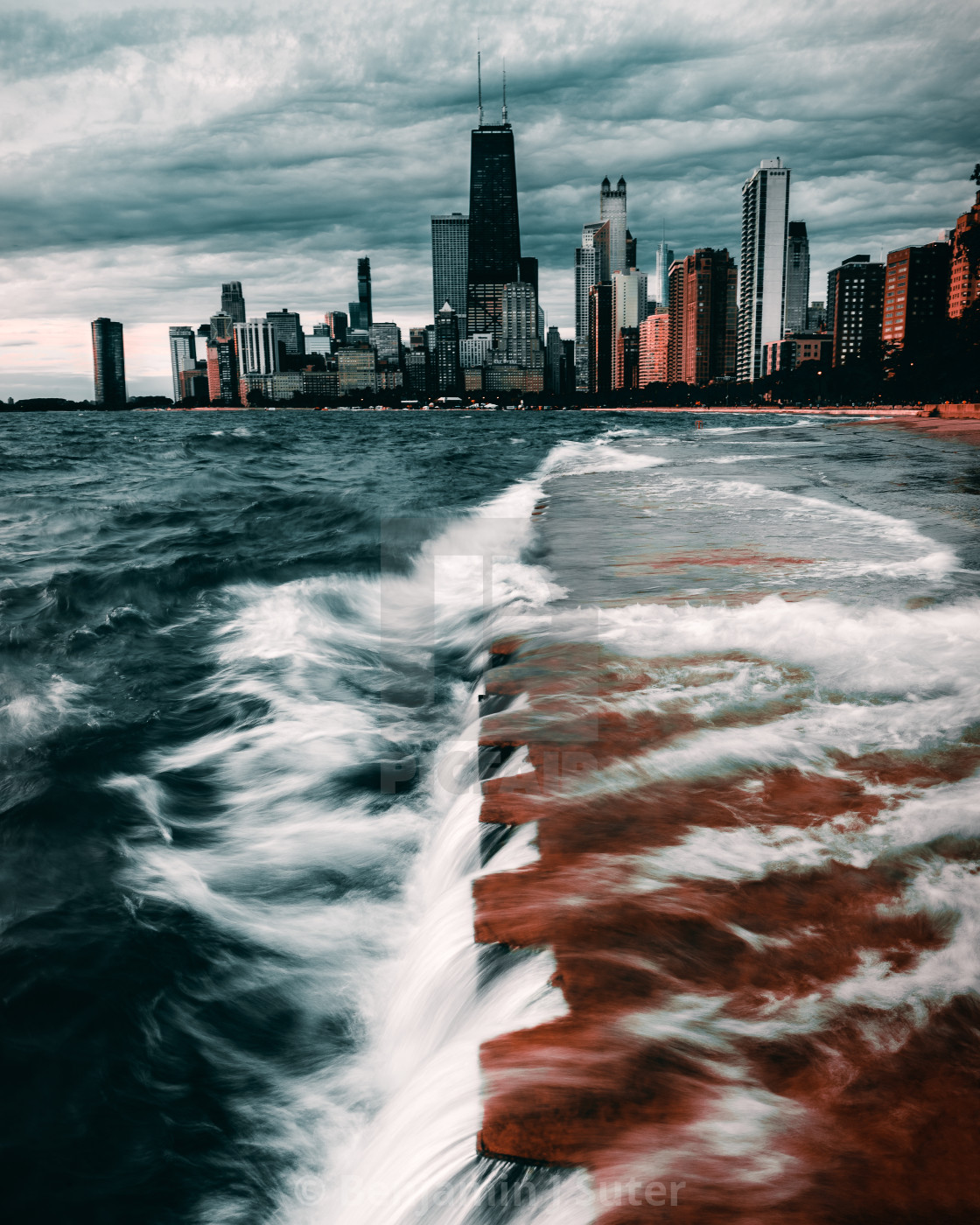 """Chicago in the Storm"" stock image"