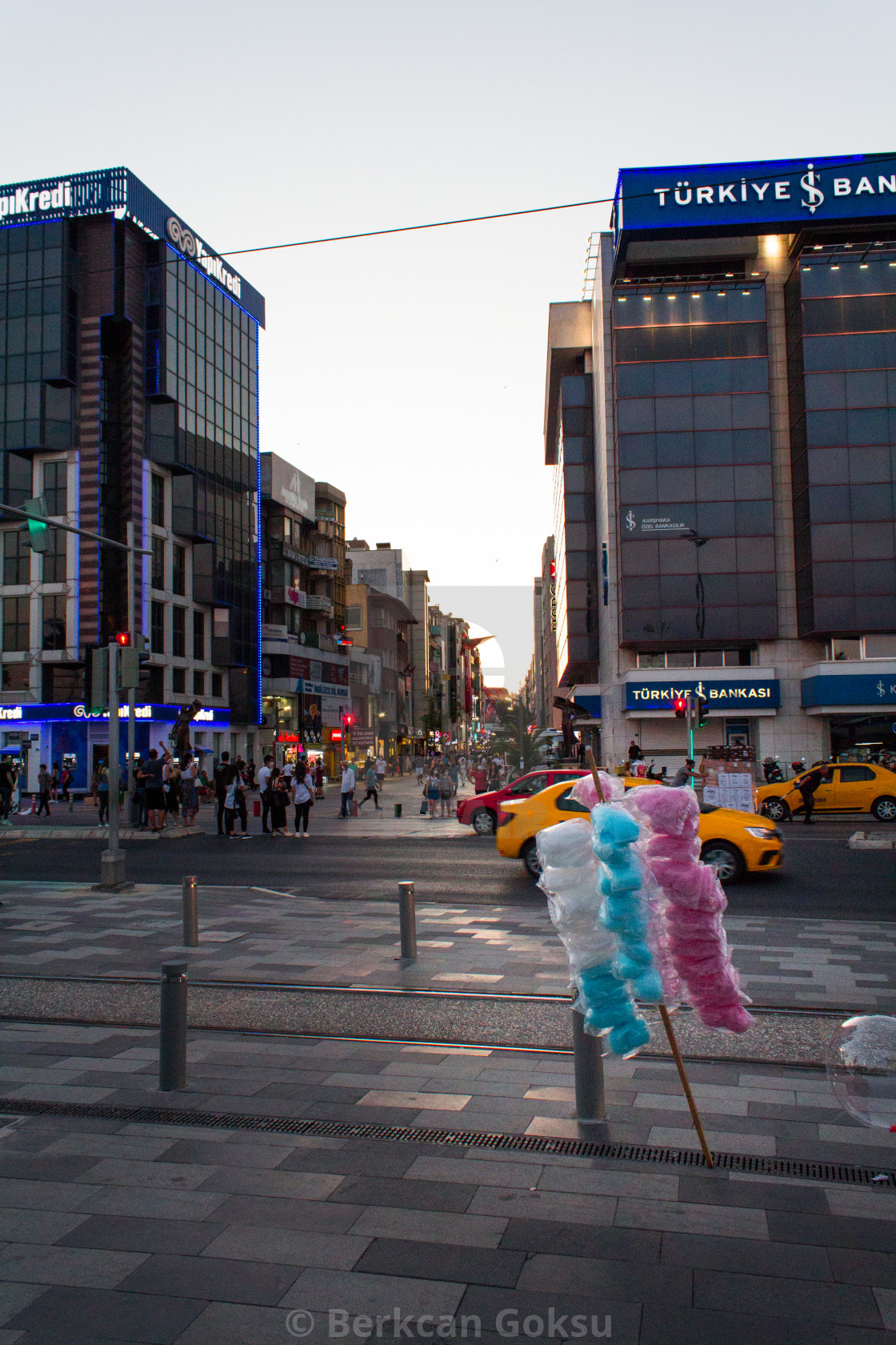 """people walking in the city of izmir turkey"" stock image"