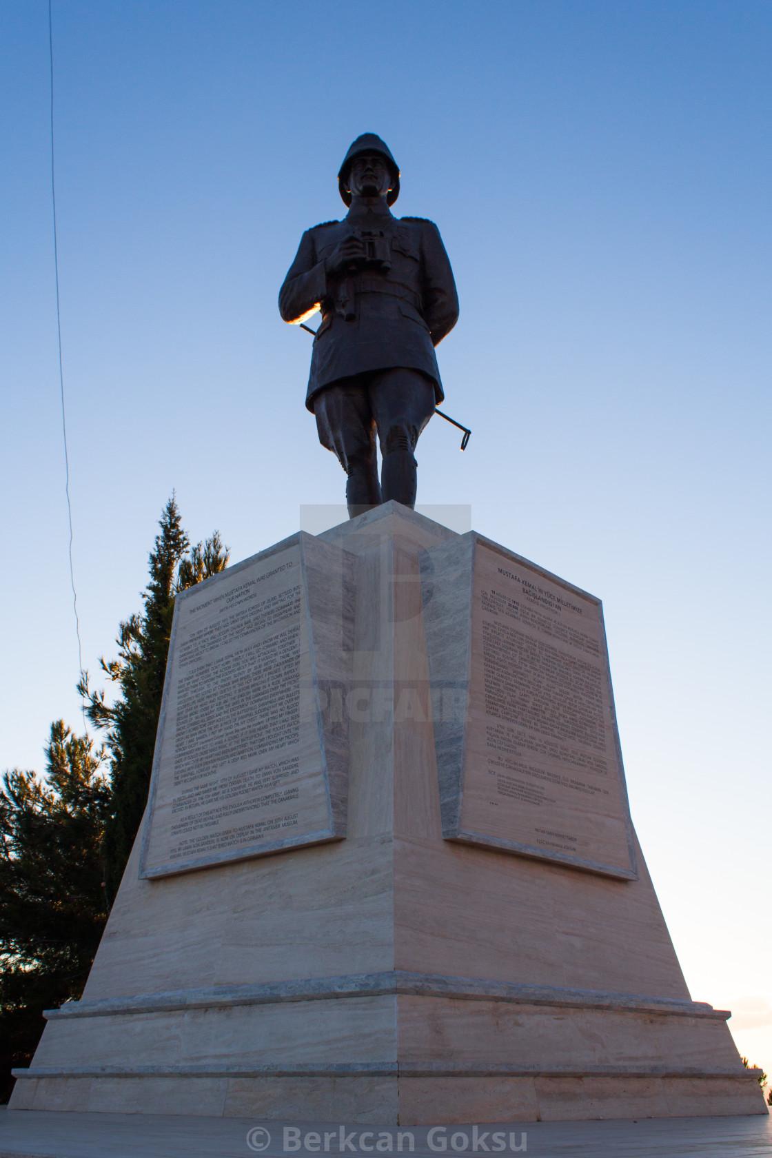 """Statue of Mustafa Kemal Ataturk"" stock image"