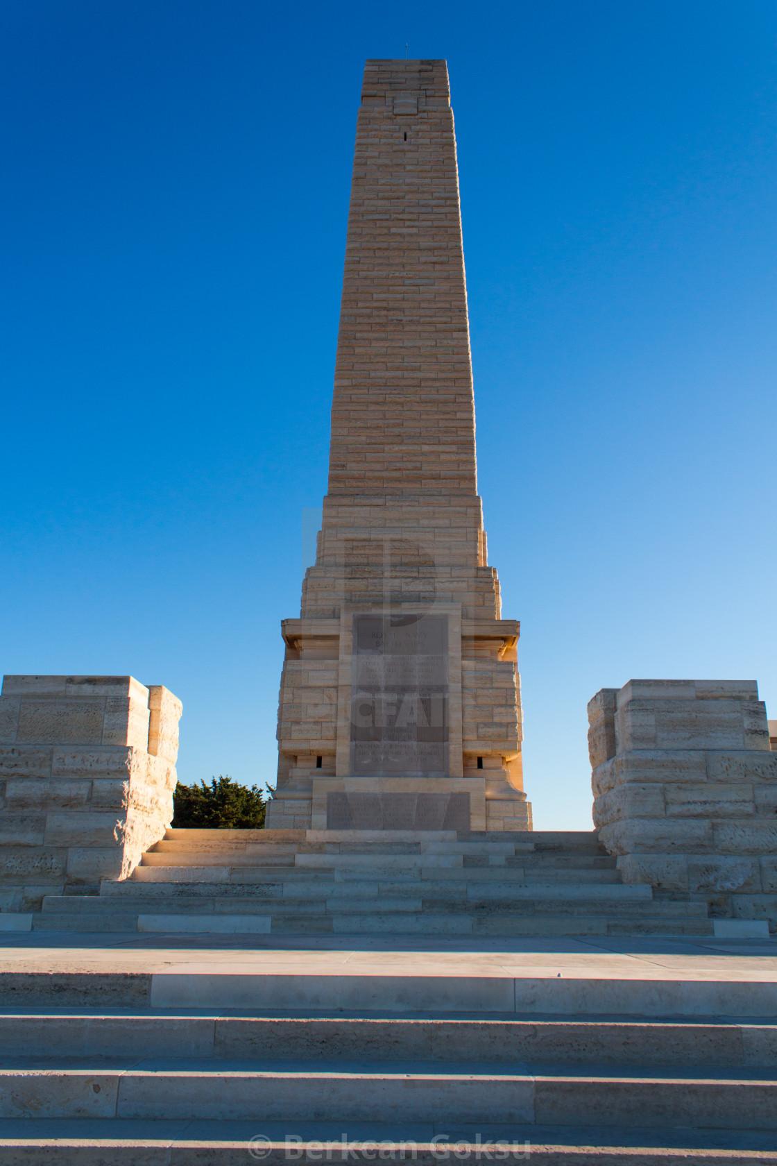 """""""War Memorial Gallipoli"""" stock image"""