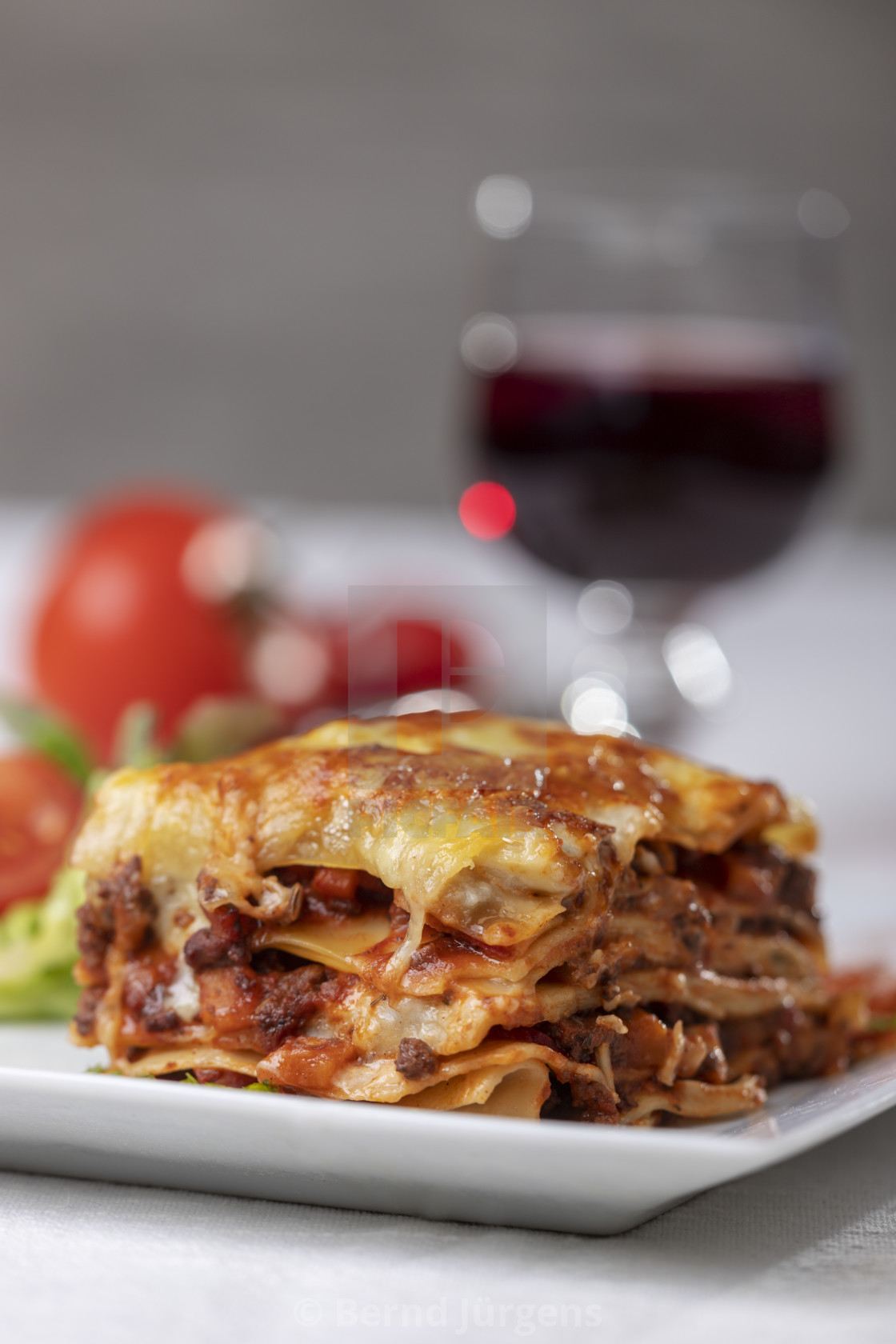 """portion of lasagna on a plate"" stock image"
