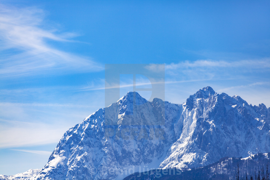 """""""tirolean alps in the winter"""" stock image"""