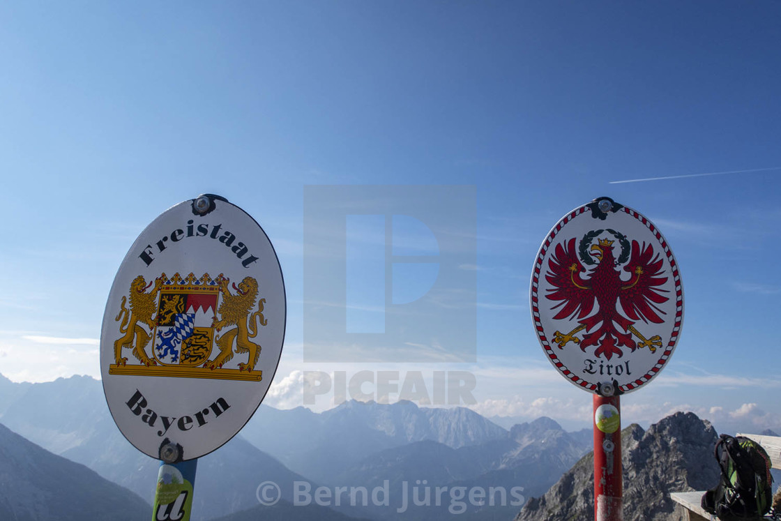 """border crossing in the mountains"" stock image"