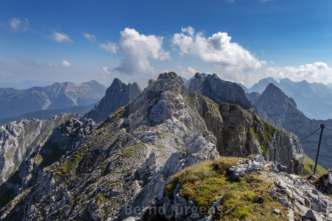 """trail part of the via ferrata Mittenwald"" stock image"