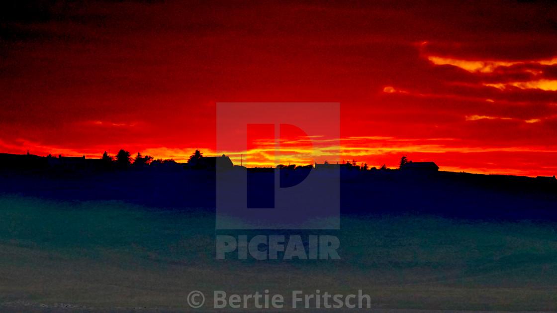 """Sunset Horizon - Isle of Skye"" stock image"