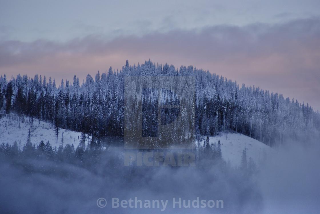 """Mountainous Snowstorm"" stock image"