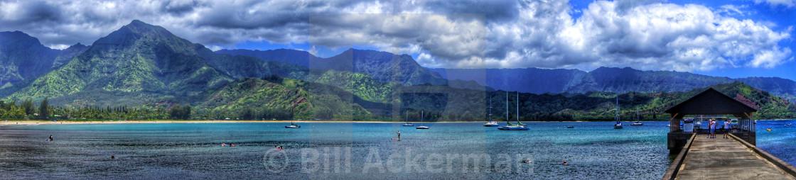 """""""Hanalei Bay, Kauai"""" stock image"""