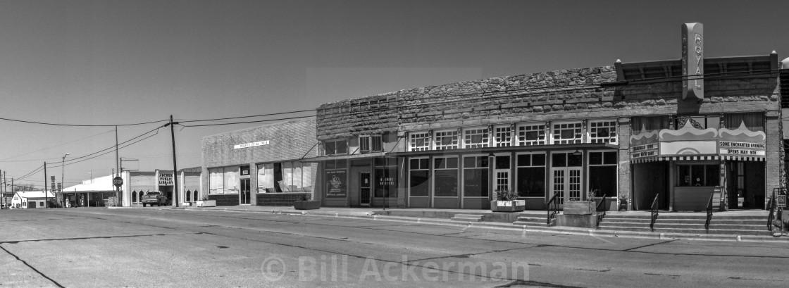 """Royal Theatre, Archer City, TX"" stock image"