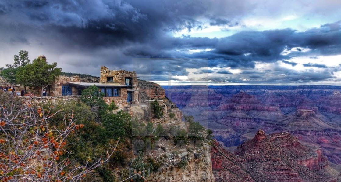 """Lookout Studio, Grand Canyon"" stock image"