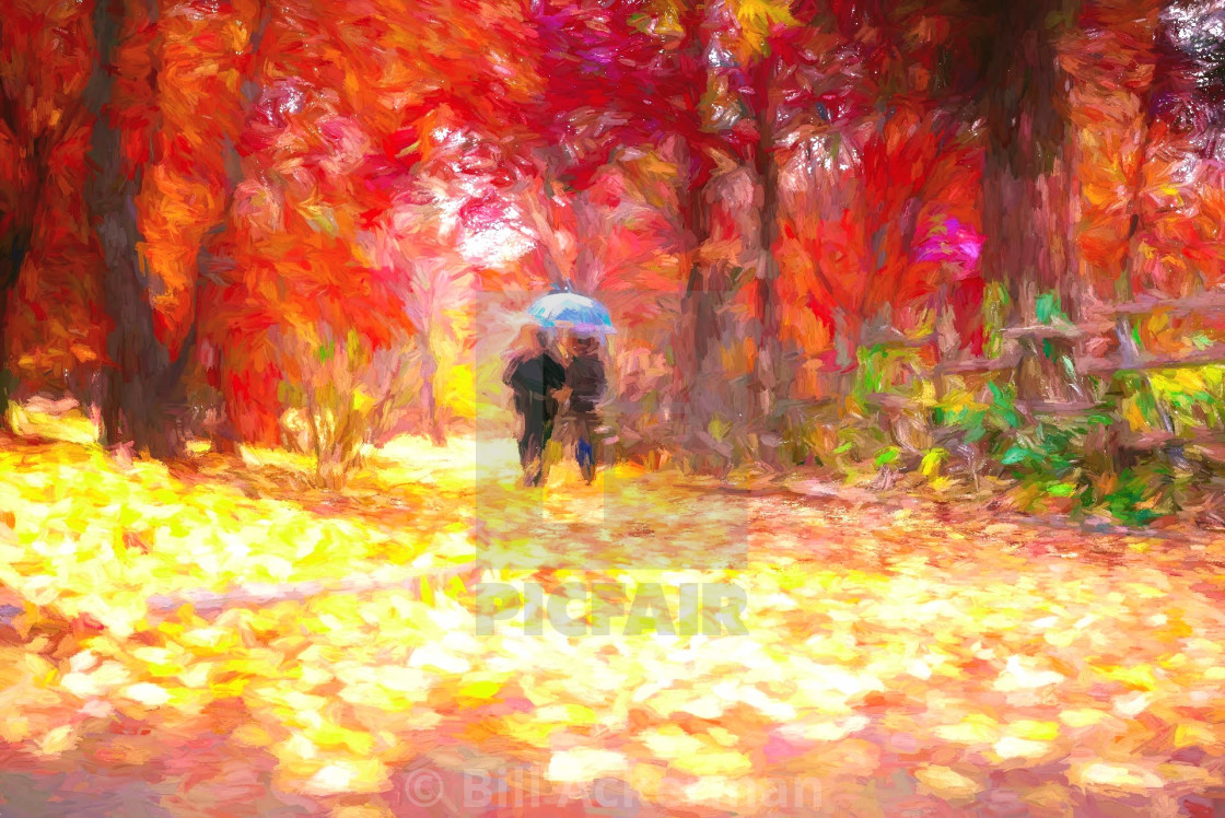 """Autumn Couple"" stock image"