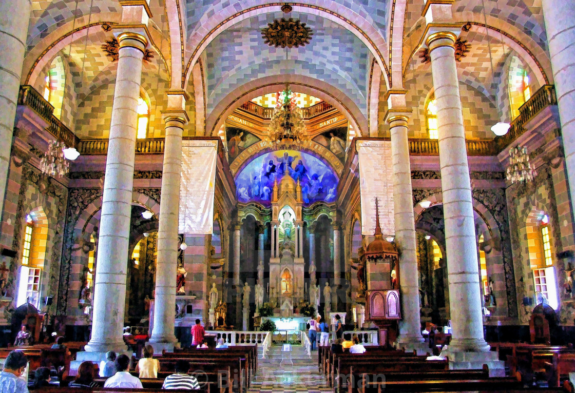 """""""Immaculate Conception Cathedral, Mazatlan, Mexico"""" stock image"""