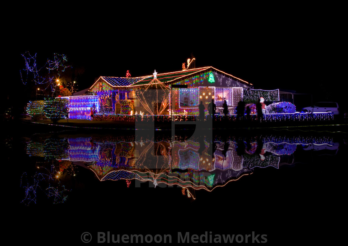"""Festive ambiance—Christmas time in Tugun, Australia"" stock image"