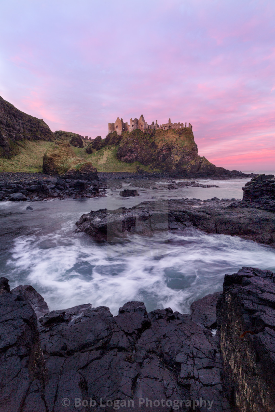 """Dunluce Sunrise"" stock image"