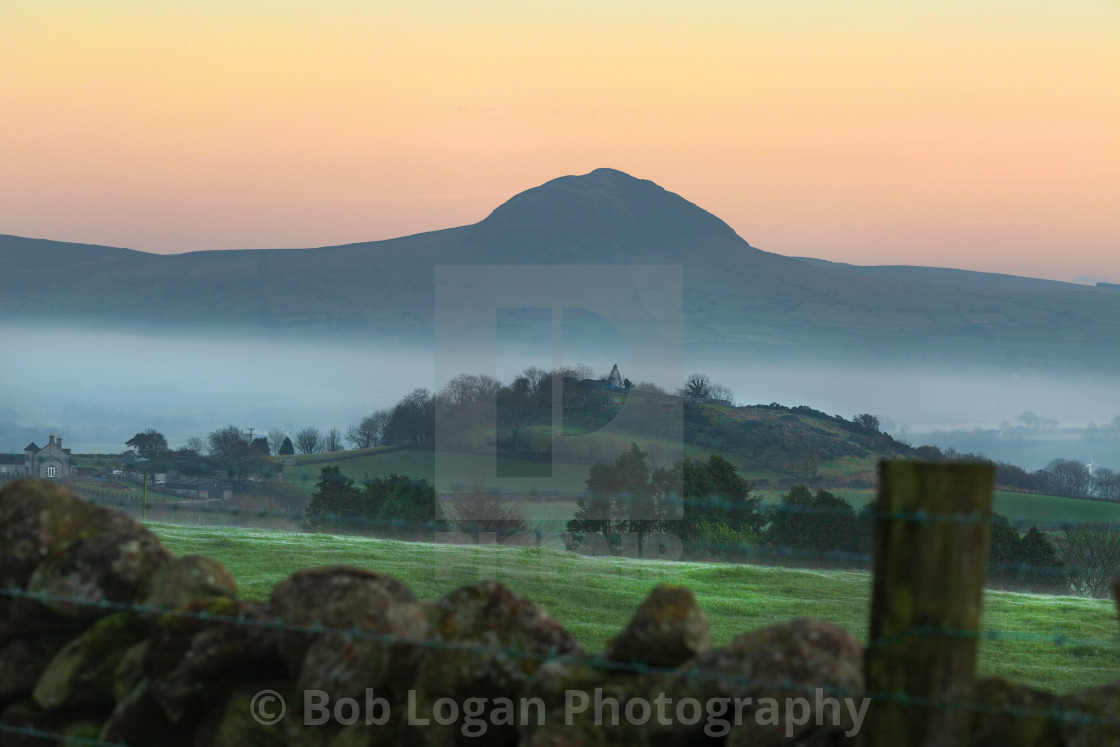 """Skerry and Slemish Sunset"" stock image"
