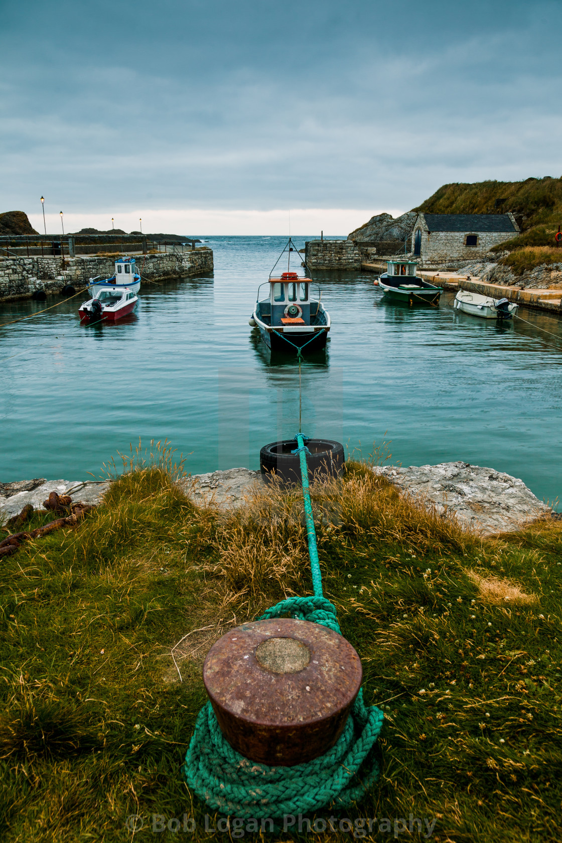 """Ballintoy Harbour"" stock image"