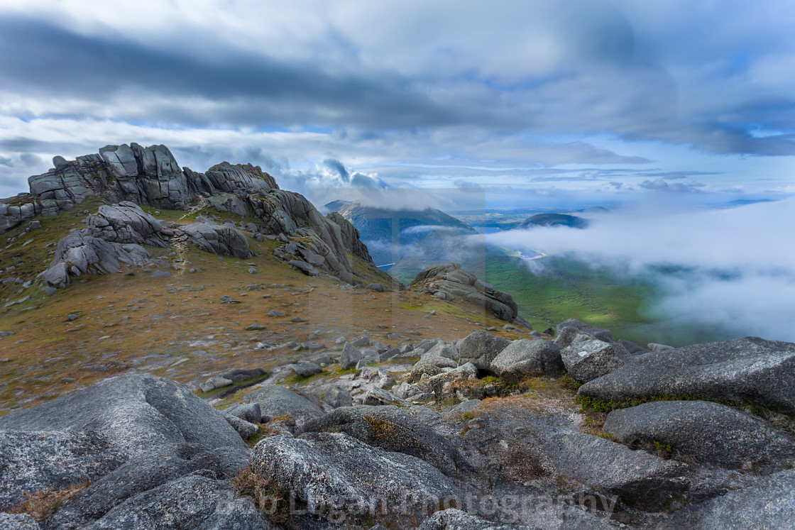 """Mournes in the Clouds"" stock image"