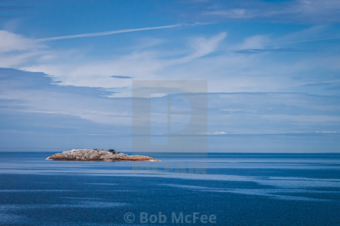 """""""Island in Blue"""" stock image"""