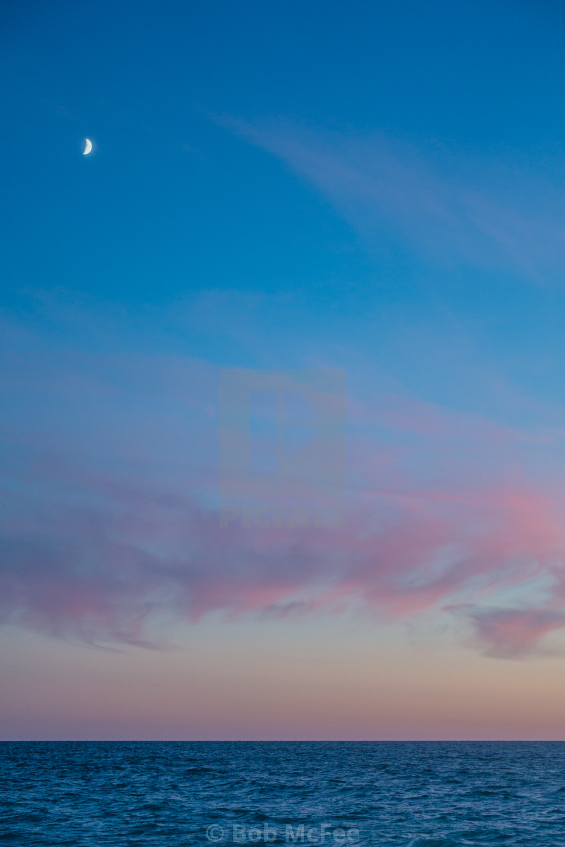 """""""Moon over Sunset"""" stock image"""