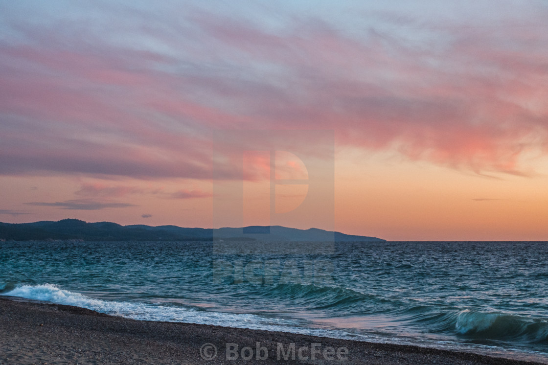 """""""The Mystique of Lake Superior"""" stock image"""