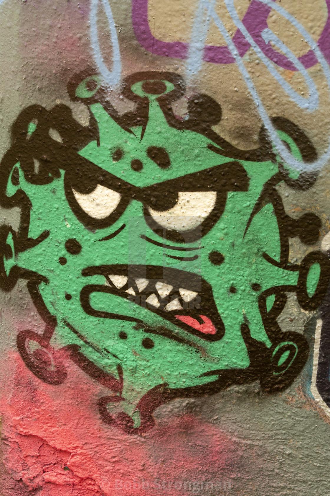 """""""Coronavirus Graffiti"""" stock image"""