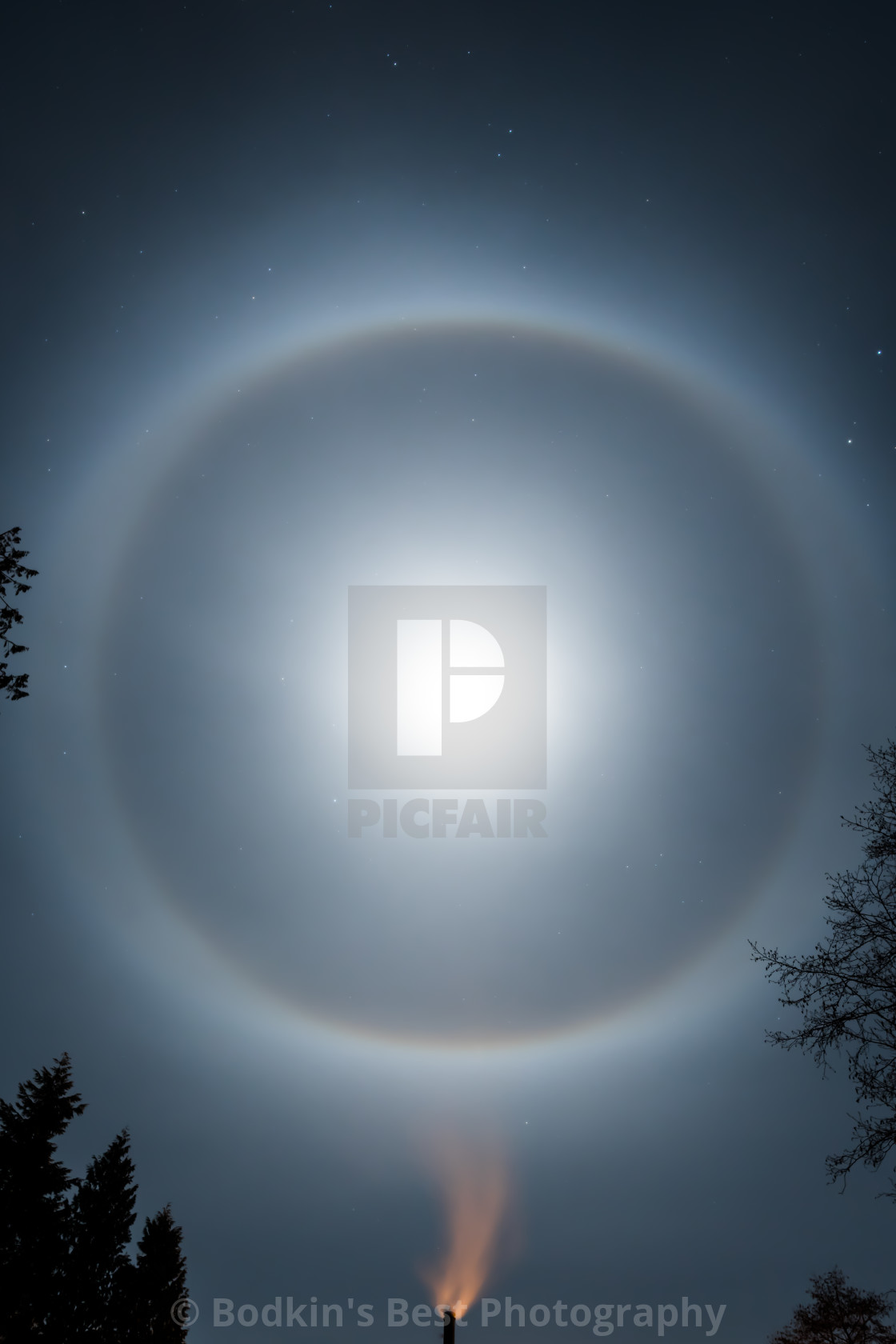 """Lunar Halo"" stock image"