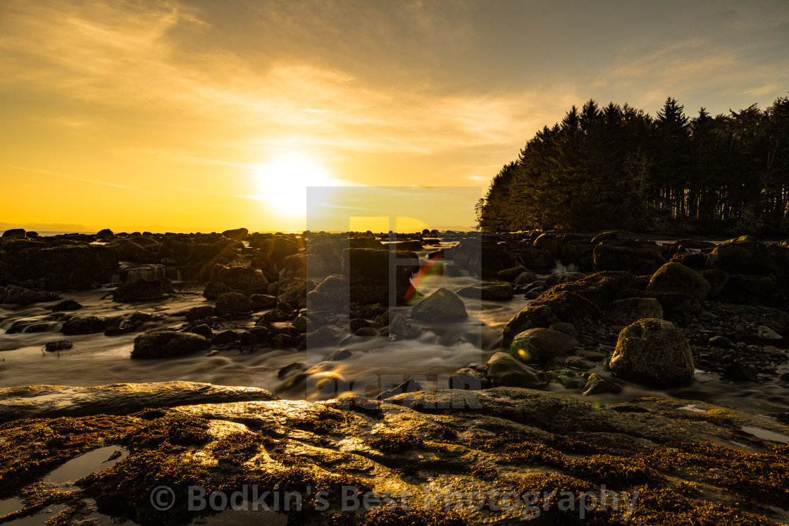 """""""Sunrise At The River"""" stock image"""