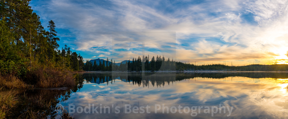 """An Evening At A Lake"" stock image"