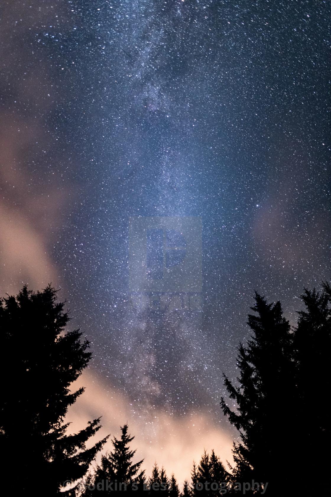 """""""Vertical Milky Way"""" stock image"""