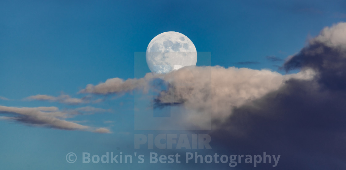 """Moonrise"" stock image"