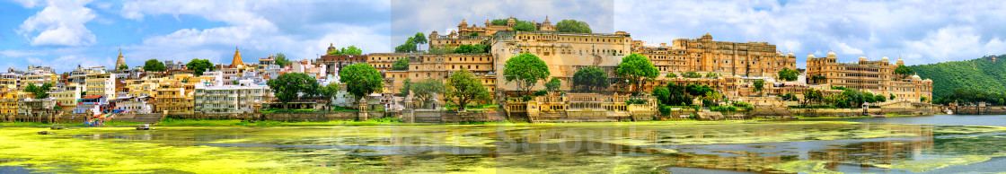 """Maharajah Palace in Udaipur city, India"" stock image"