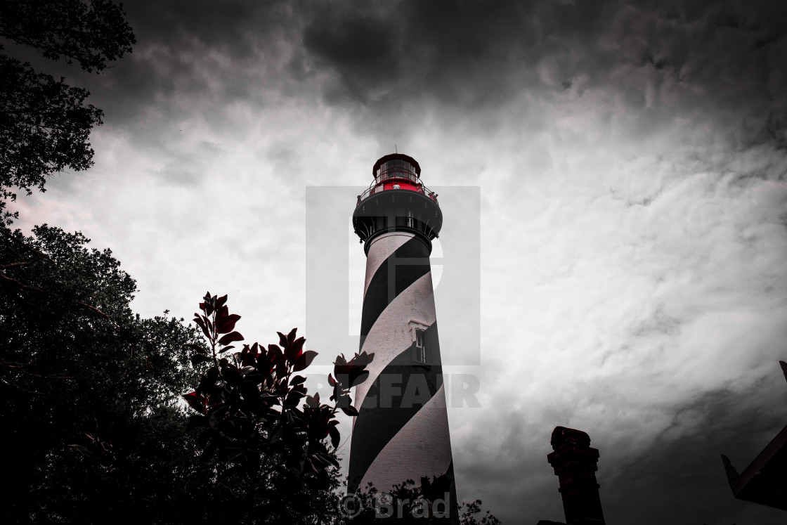 """""""St Augustine Lighthouse"""" stock image"""