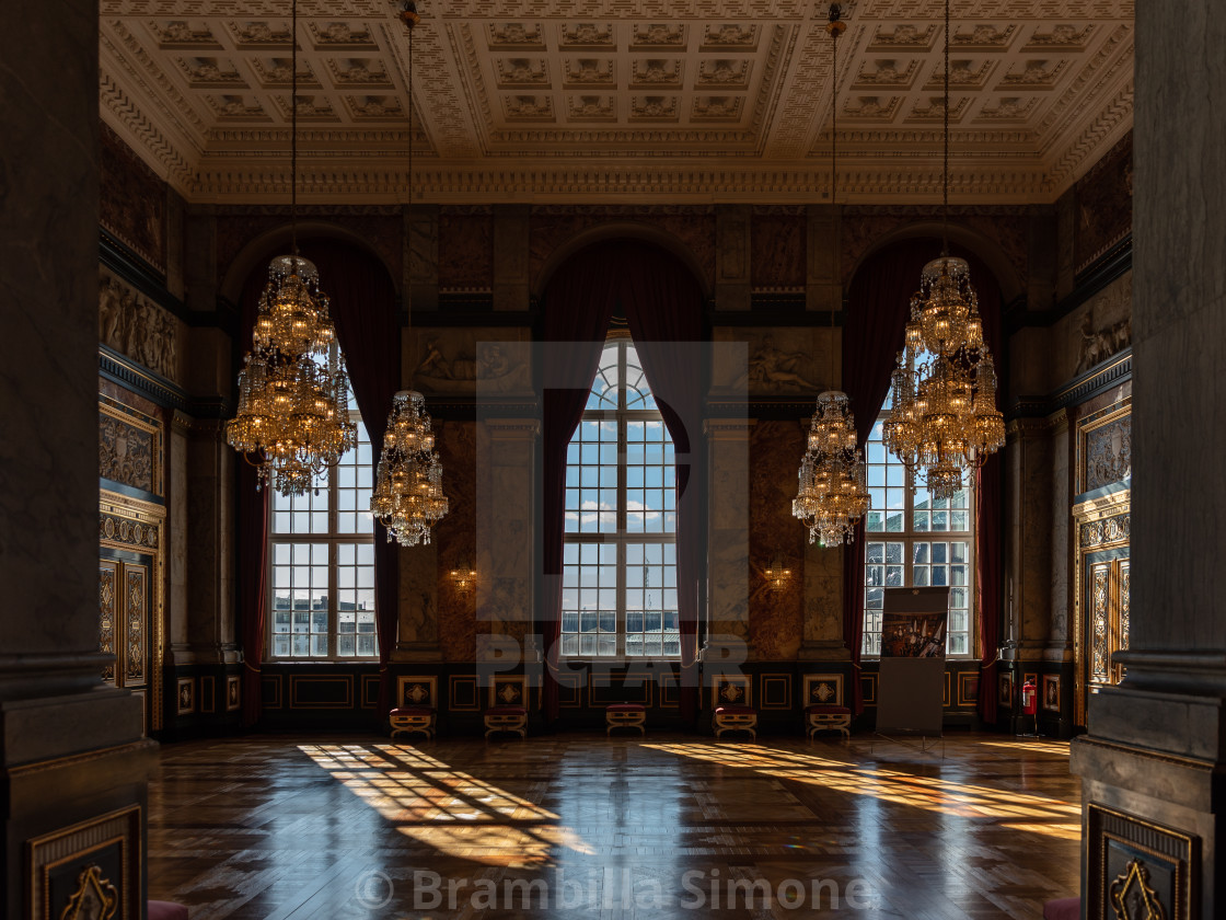 One of the historic rooms inside the Christiansborg Palace