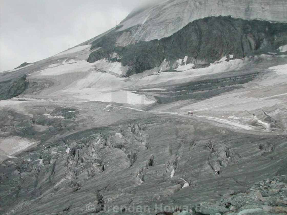Swiss Glacier near Saas Fee
