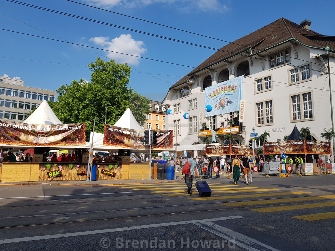 """Caliente Festival, Zurich"" stock image"