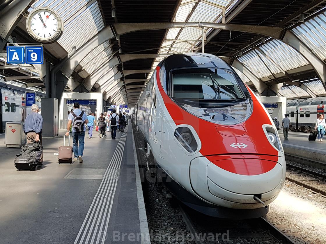 """""""Zurich Railway Station"""" stock image"""