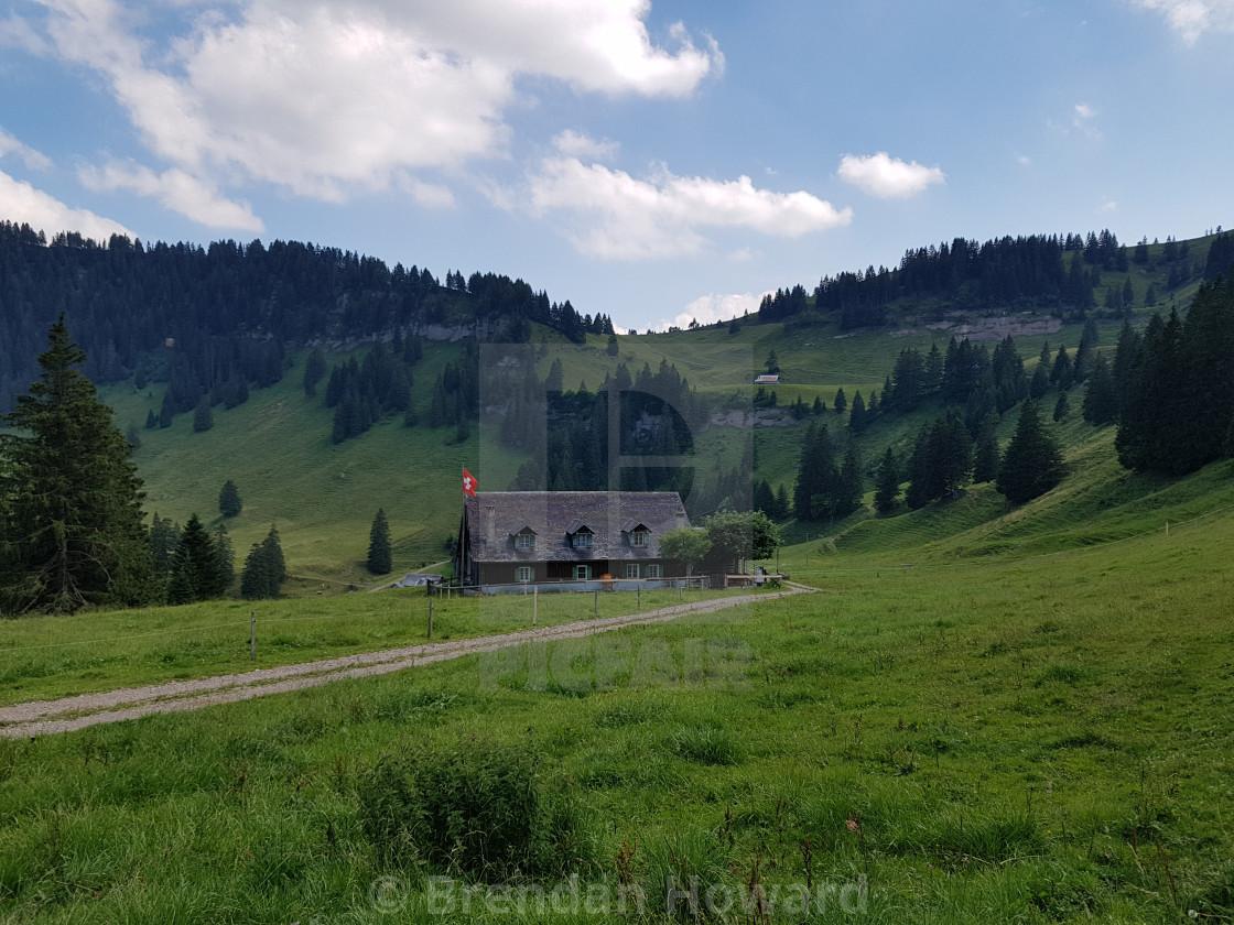 """Swiss Mountain Landscape"" stock image"