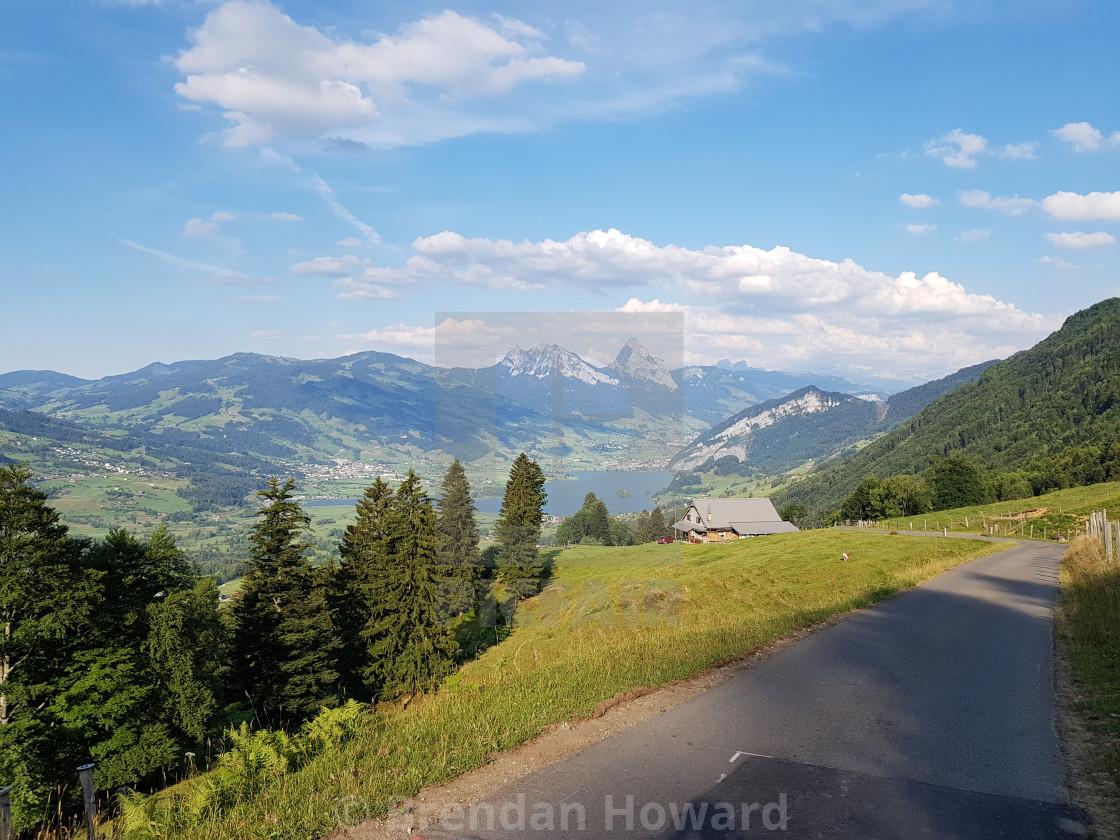 """""""Swiss Upland Landscape"""" stock image"""
