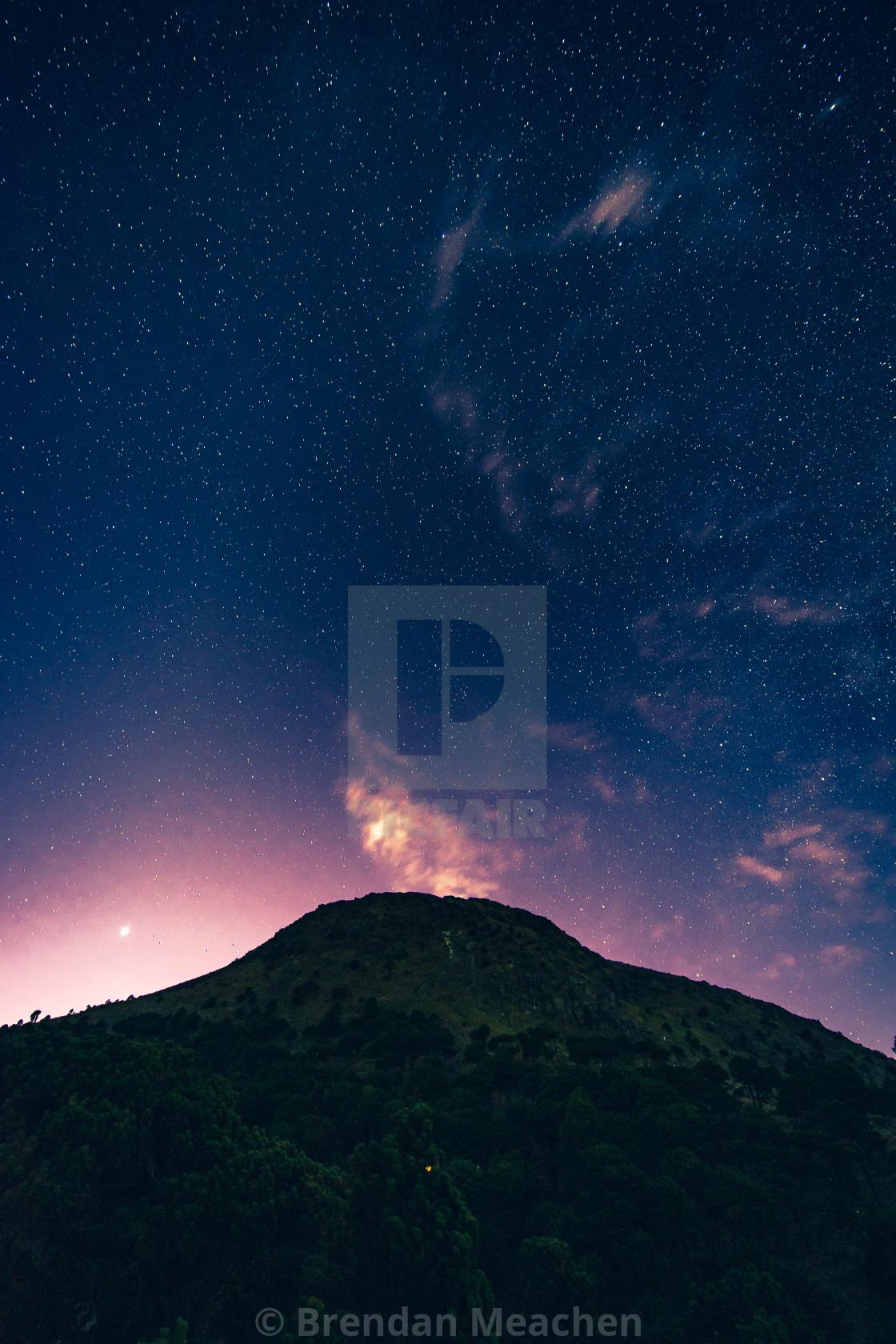 """""""Starry night, Tajumulco"""" stock image"""