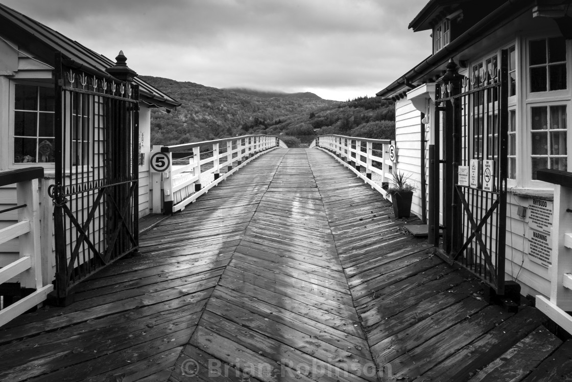 """Penmaenpool Toll Bridge"" stock image"