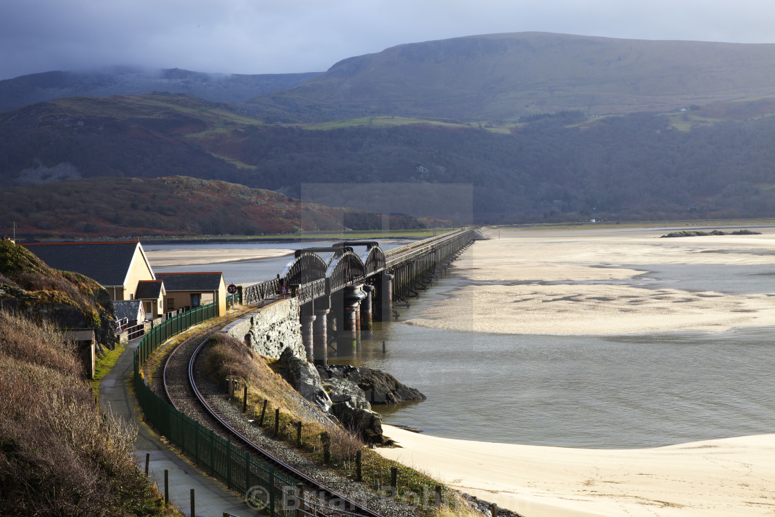 """Barmouth Viaduct"" stock image"