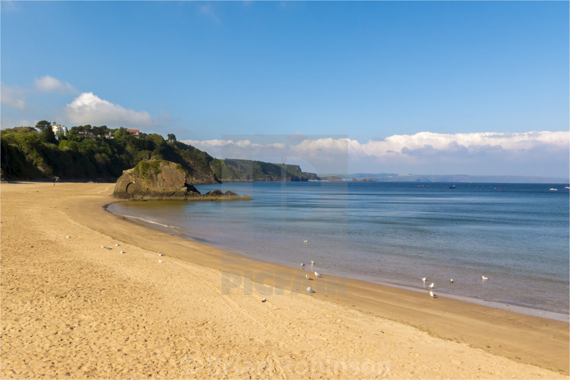 """Tenby Beach"" stock image"