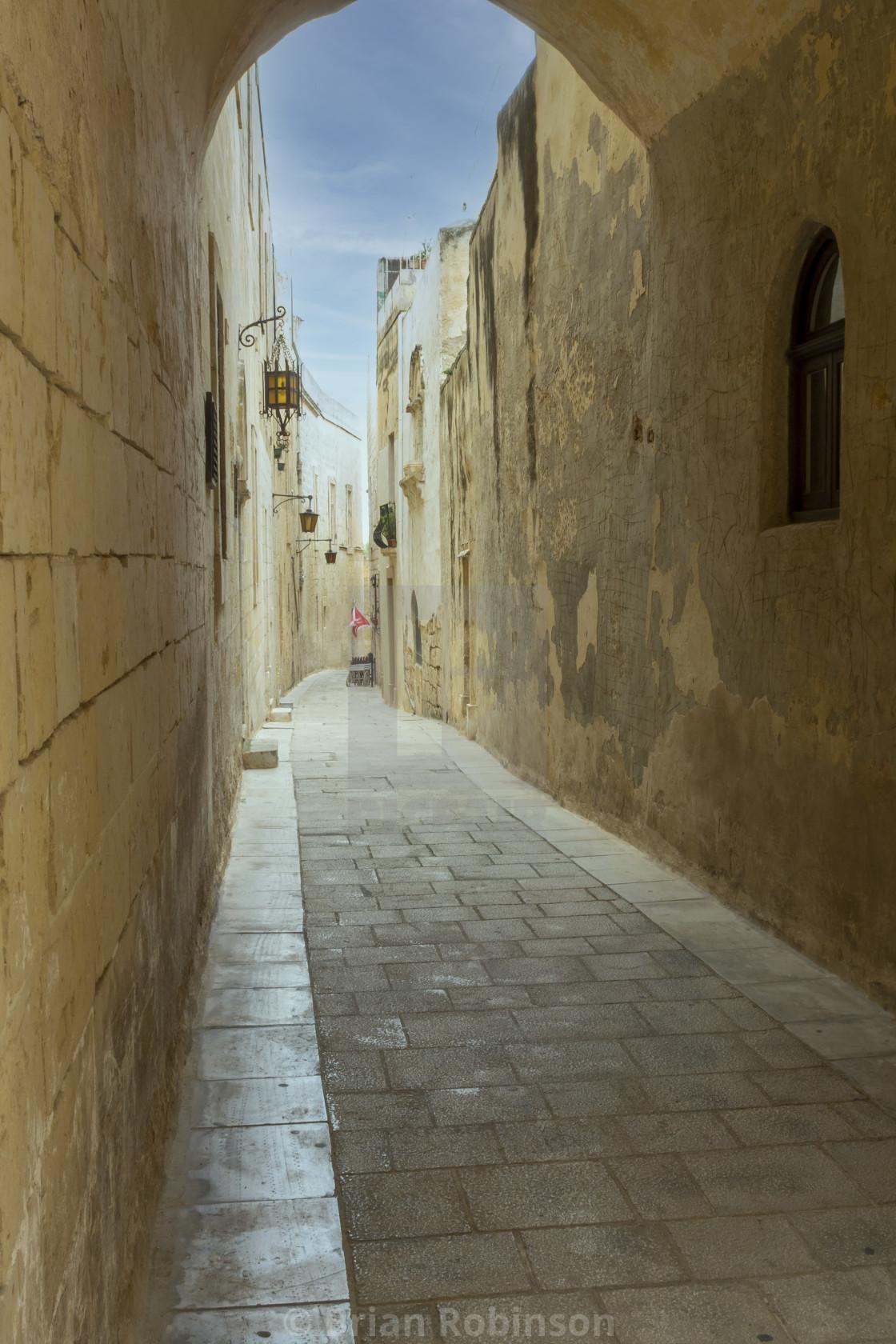 """Malta Alley"" stock image"