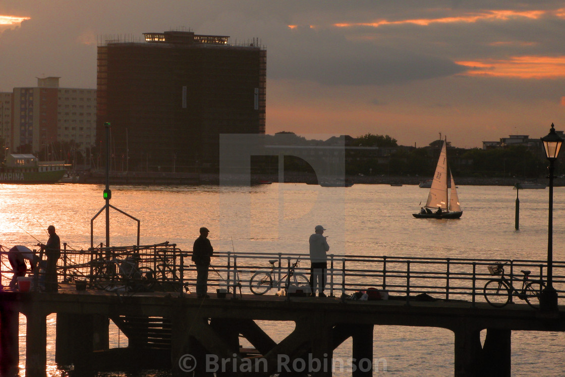 """""""Portsmouth Harbour"""" stock image"""