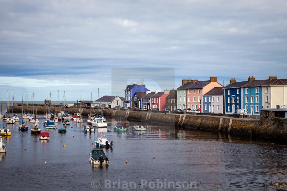 """Aberaeron Harbour"" stock image"