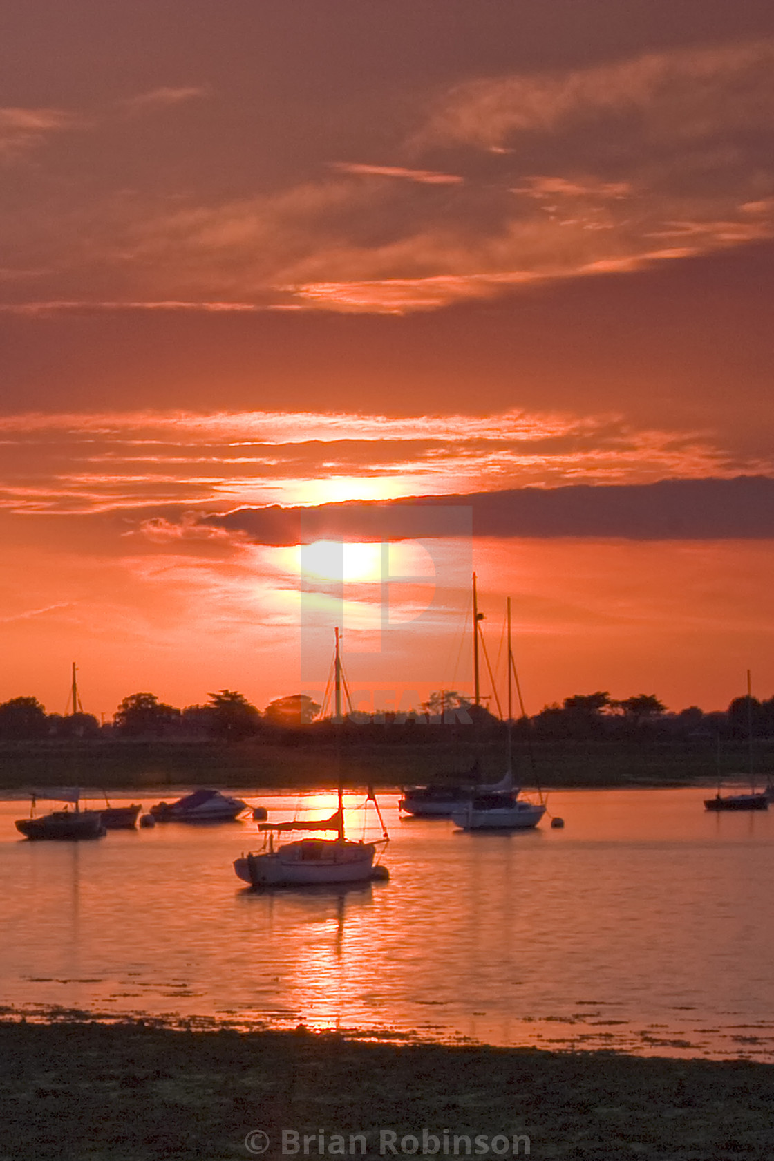 """""""Bosham Sunset"""" stock image"""