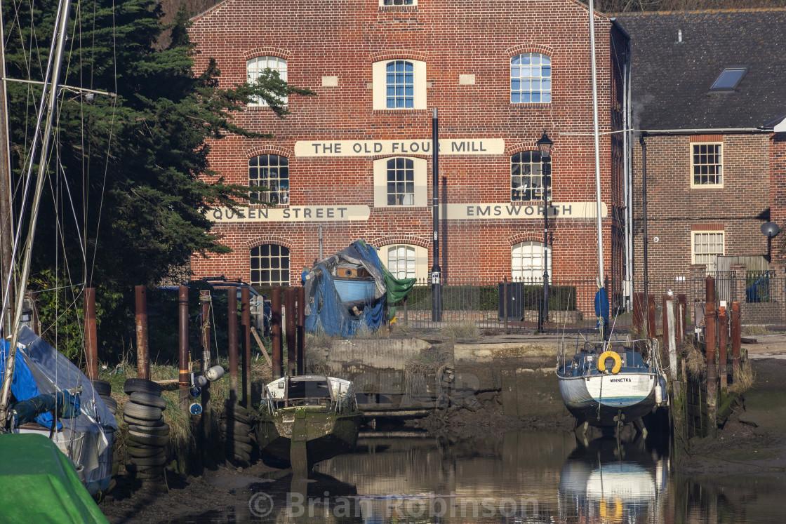 """Queen St Quay"" stock image"