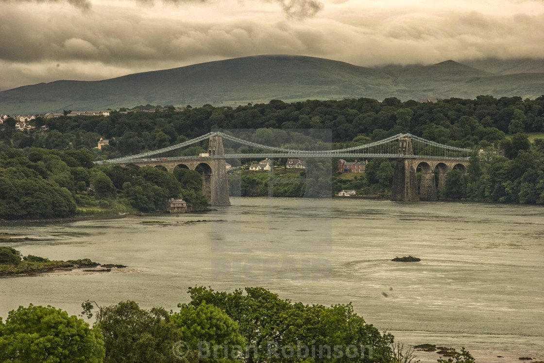 """Menai Bridge"" stock image"